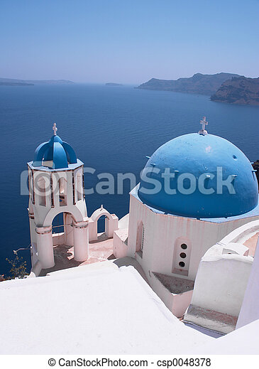 Santorini Churches 4 - csp0048378