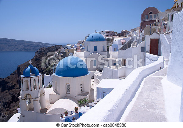 Santorini Churches 6 - csp0048380