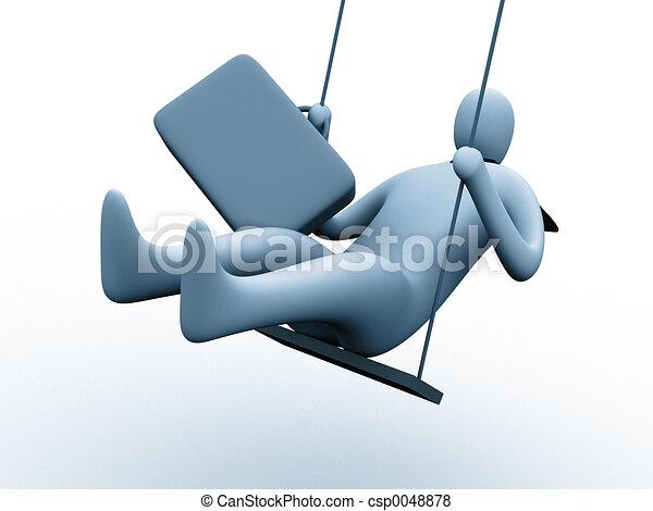 illustration de sur balan oire 3d personne balan oire csp0048878 recherchez des clip art. Black Bedroom Furniture Sets. Home Design Ideas