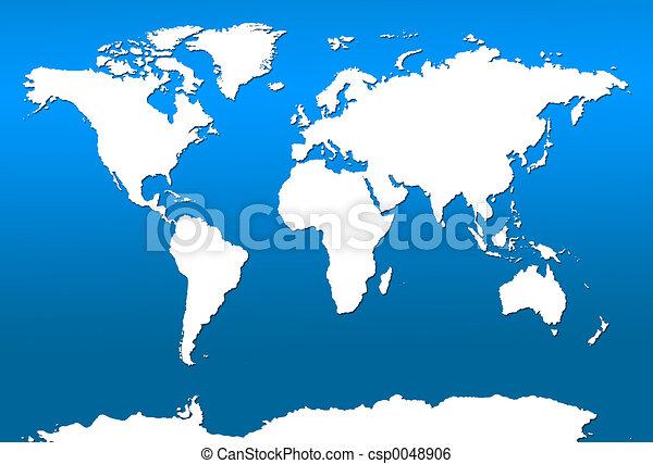 World Map - csp0048906