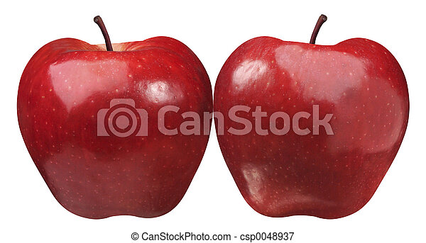 two simetrical apple - csp0048937