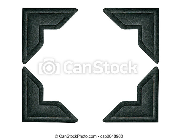 Black Photo Corners - csp0048988