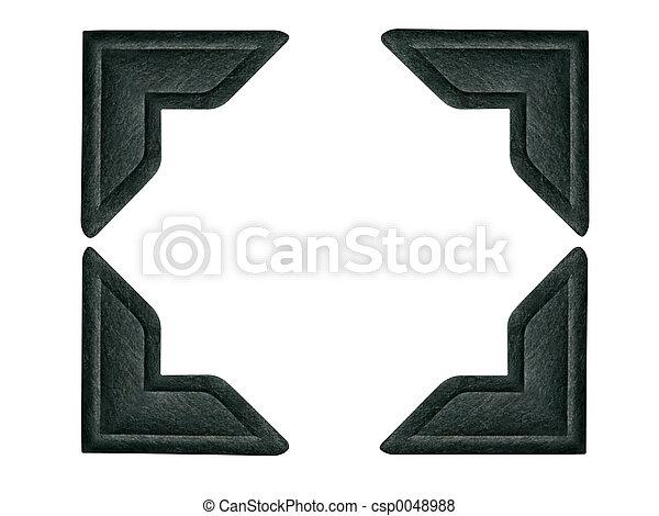 foto, svart, hörnen - csp0048988