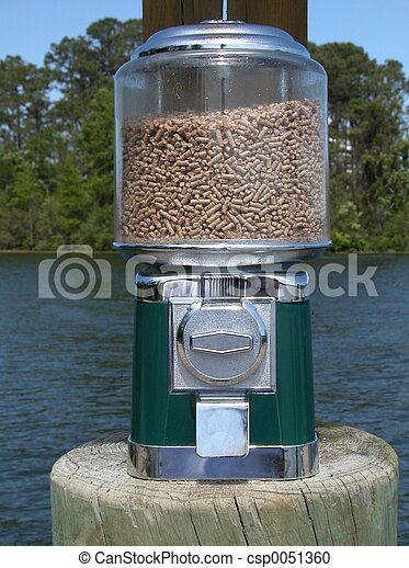Stock photography of coin feeder coin operated feeder for Fish food dispenser