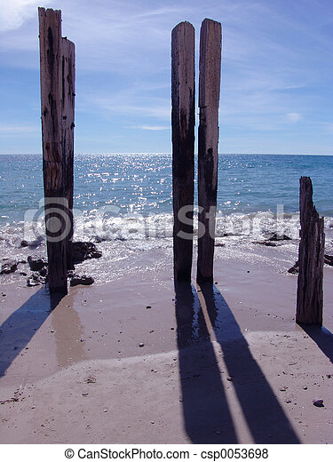 Wooden Posts - csp0053698