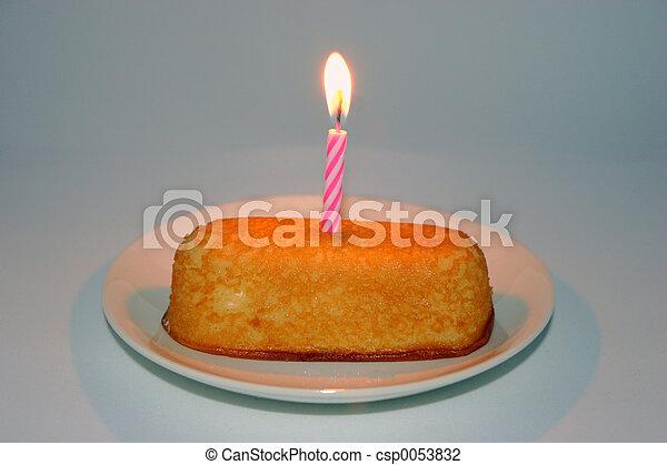 Budget Birthday Cake - csp0053832