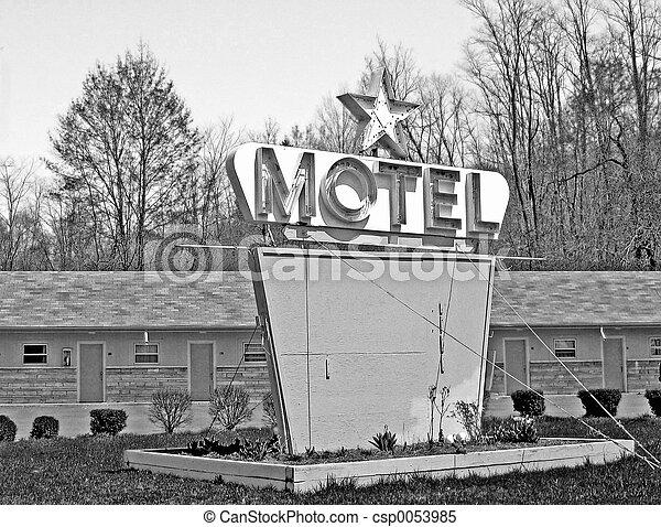Motell,  retro - csp0053985