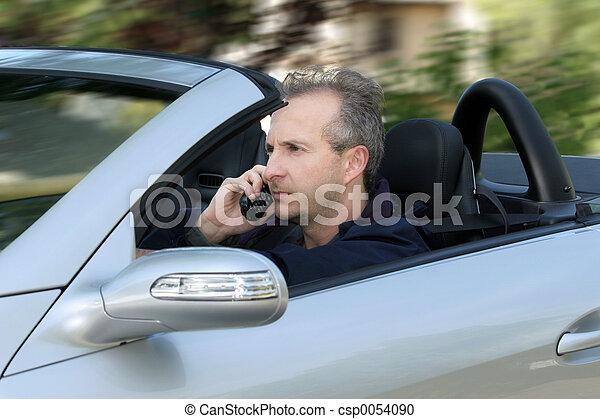 Man driving a car - csp0054090