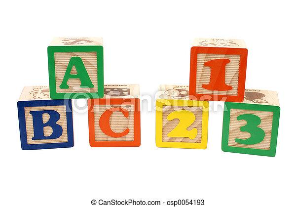 ABC 123 Blocks - csp0054193