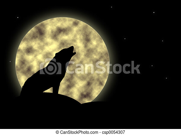 Howling at the moon - csp0054307