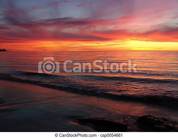 Sunset Waves - csp0054661
