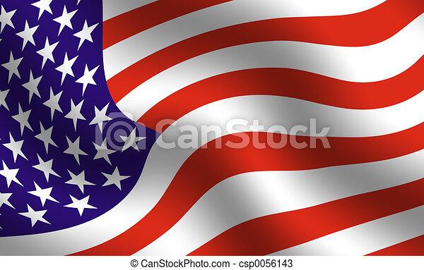 American flag detail - csp0056143