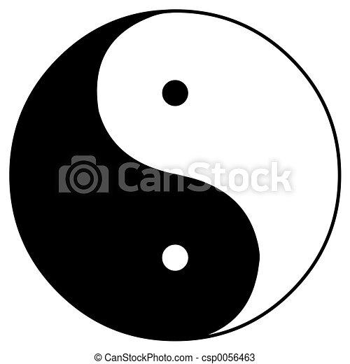 zeichnungen von yin und yang der yin und yang. Black Bedroom Furniture Sets. Home Design Ideas