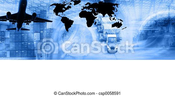 Freight Template-Blu - csp0058591