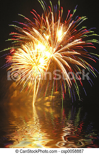 finale!,  fireworks - csp0058887