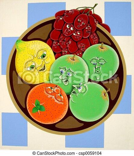 Fruit Bowl Line Drawing Fruit Bowl Csp0059104