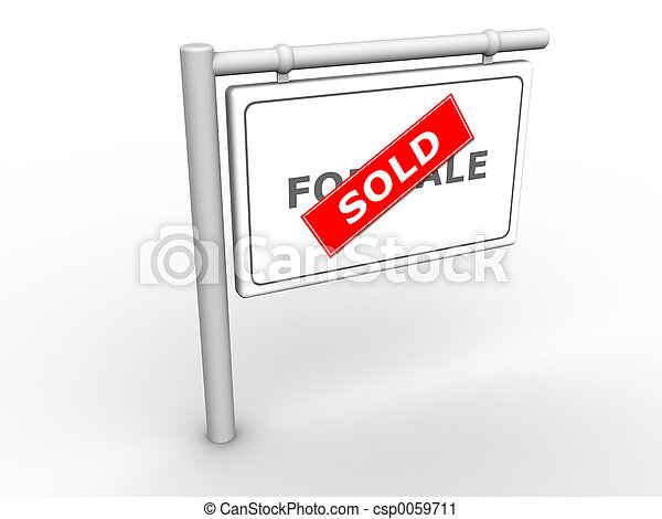 Info Sign Sold - csp0059711