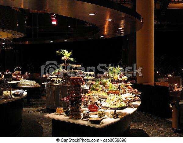 Restaurant at night - csp0059896