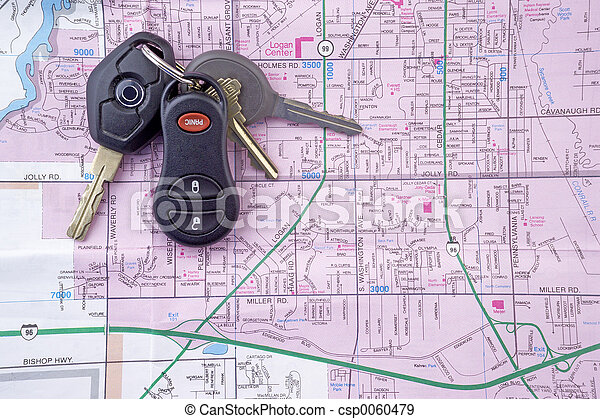 Map and Car Keys 2 - csp0060479