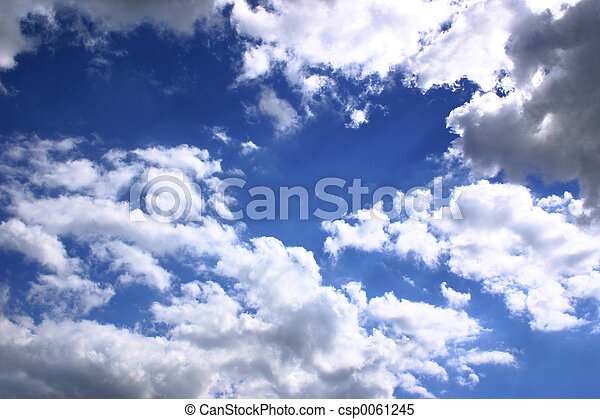 blue sky and clouds - csp0061245