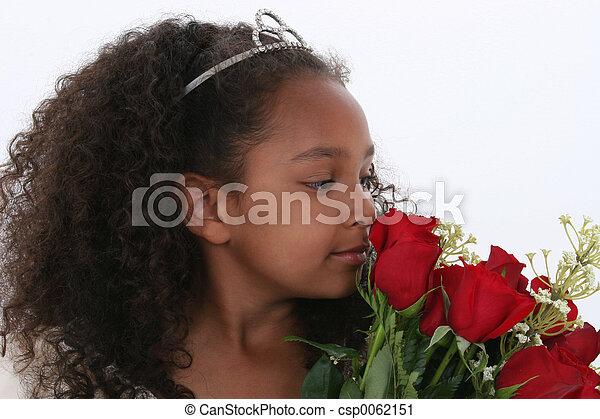 Girl Child Flowers - csp0062151