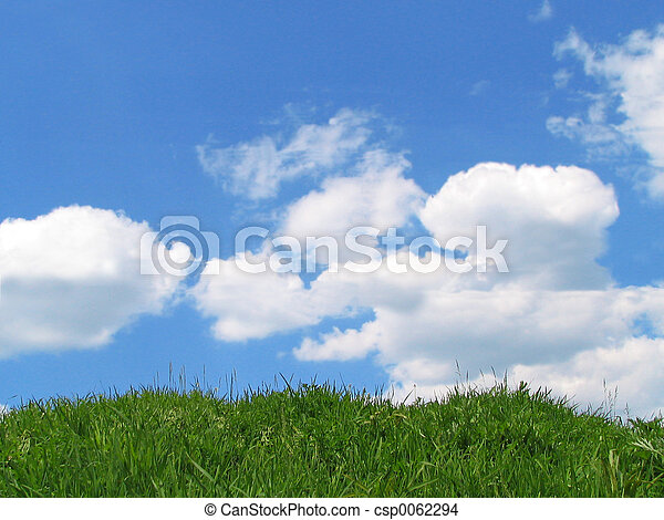Sky and grass - csp0062294