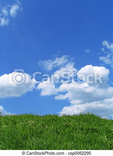 Sky and grass - csp0062295