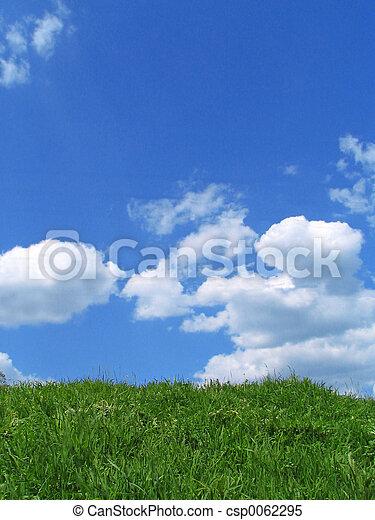 Sky and grass - csp0062295