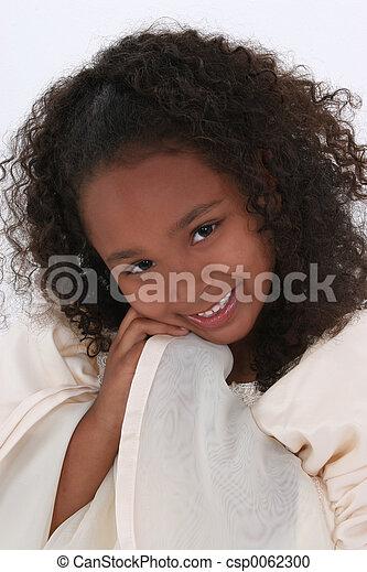 Girl Child Angel - csp0062300