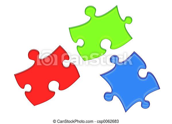 RGB Puzzle Pieces - csp0062683