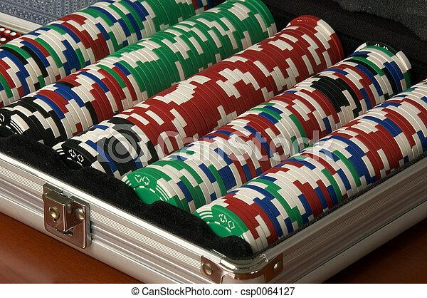 Picture of Poker Chips - Poker Chip set for Texas Hold em Poker