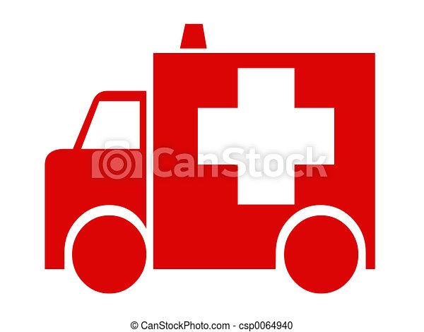 Red ambulance - csp0064940