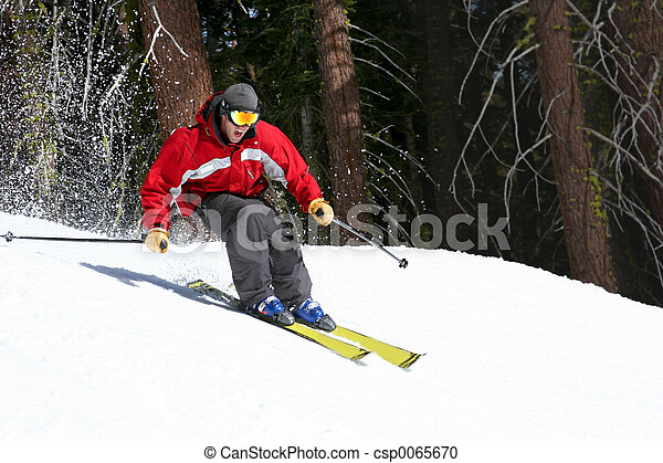 Skier on a slope - csp0065670