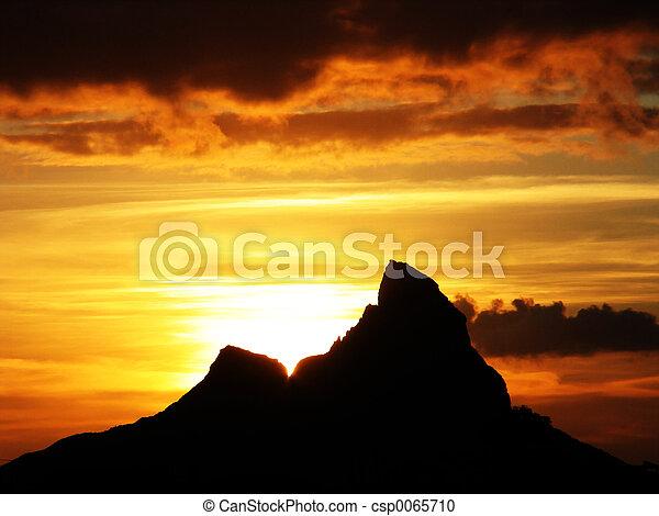 Peak at sunset - csp0065710