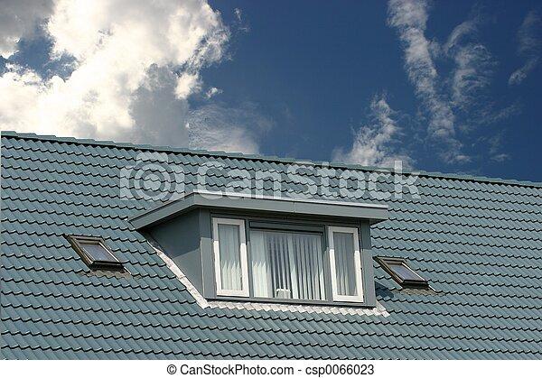 Archivi fotografici di blu tetto americano stile for Piani di casa in stile ranch gratis