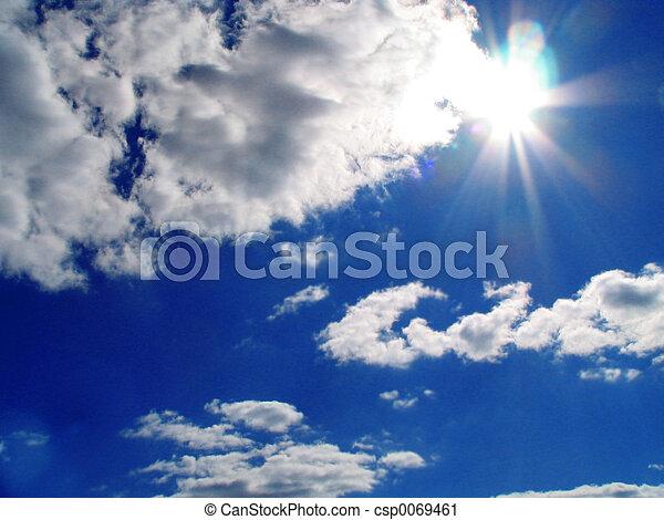 Sky-sun-clouds - csp0069461