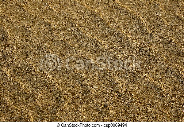 Sand texture on golden beach