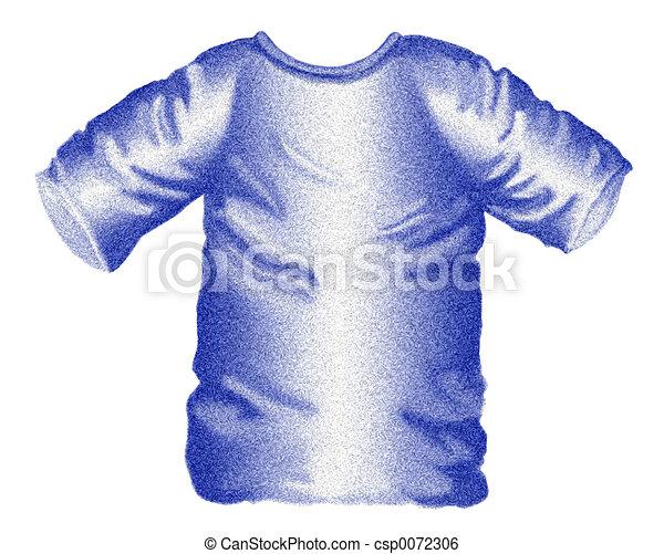 Blue T-shirt - csp0072306