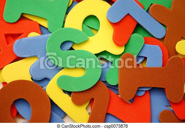 alfabeto, letras - csp0073878