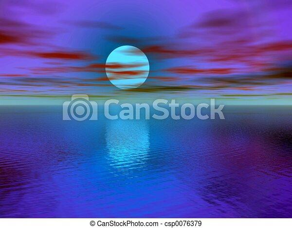 Sunset, sunrise. - csp0076379