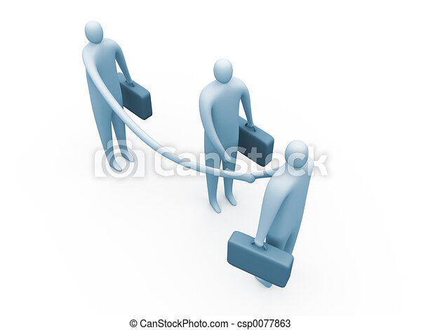 Flexible businessman - csp0077863
