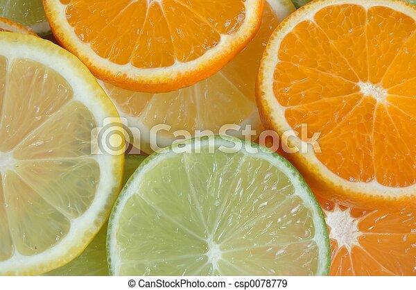 フルーツ, に薄く切る - csp0078779