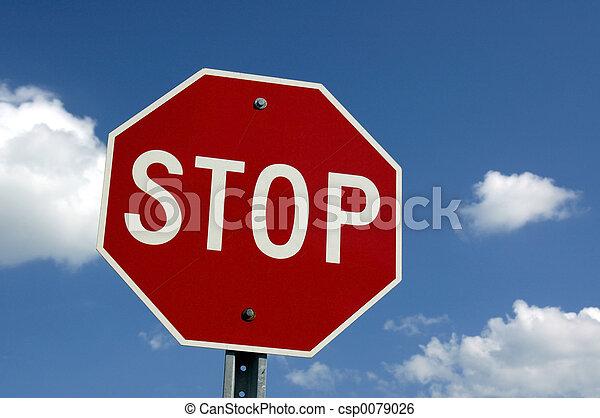 Stop  Sign - csp0079026