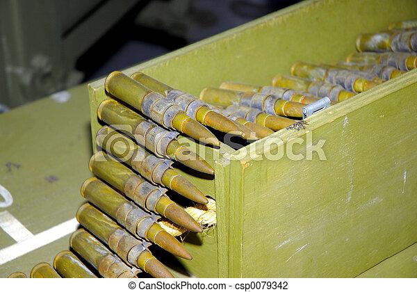 cincuenta, calibre, balas - csp0079342