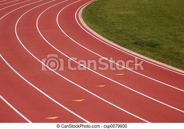 Running track - csp0079930