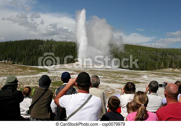 yellowstone tourism - csp0079979