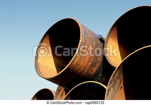 rusting steel pipes - csp0080133