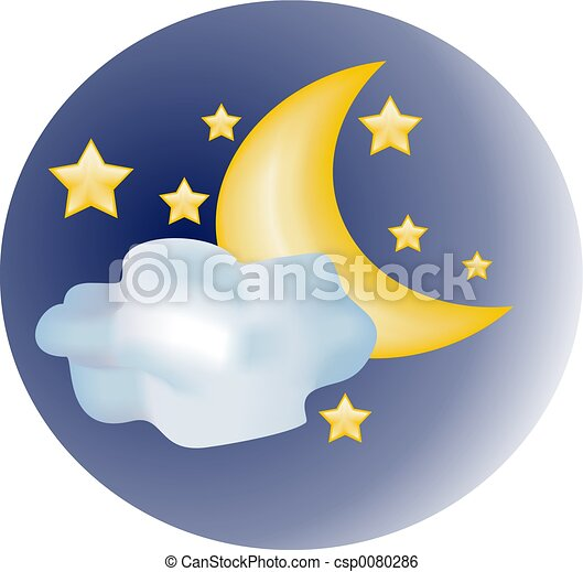 Star & Moon - csp0080286