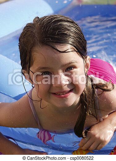 Children-Adorable Girl Swimming