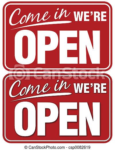Come In We\'re Open - csp0082619